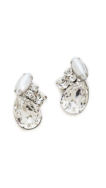 TOM BINNS Madame Dumont Stud Earrings