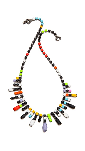TOM BINNS De Stijl Neon Jewel Necklace