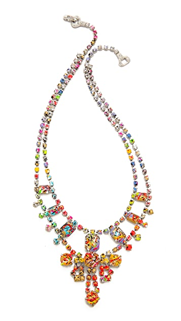 TOM BINNS A Riot of Color Splash Necklace