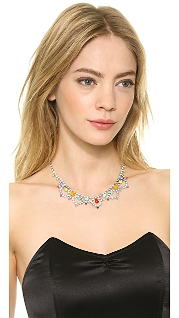 TOM BINNS New Now Scalloped Crystal Necklace