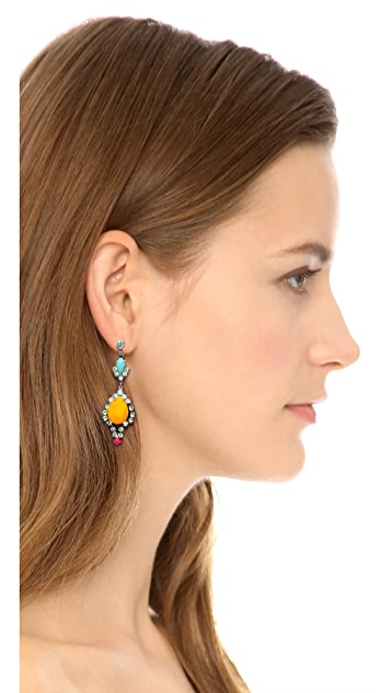 TOM BINNS New Now Teardrop Earrings