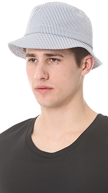 Thom Browne Swimsuit Seersucker Fisherman Hat