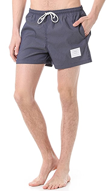 Thom Browne Gingham Swim Trunks