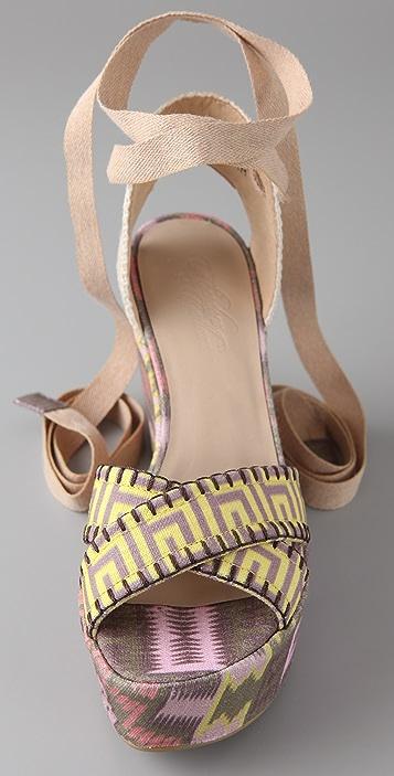 Theodora & Callum Lobiarritz Wedge Sandals