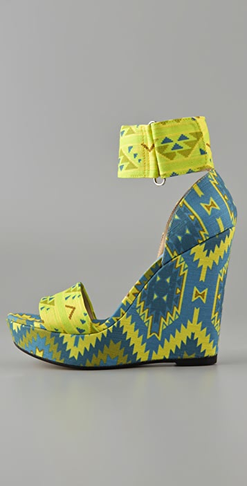 Theodora & Callum Mustique Platform Wedge Sandals