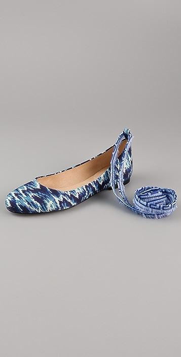 Theodora & Callum Prima Ballet Flats with Ankle Tie