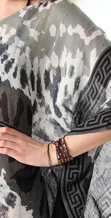 Theodora & Callum Tie Dye Scarf Top