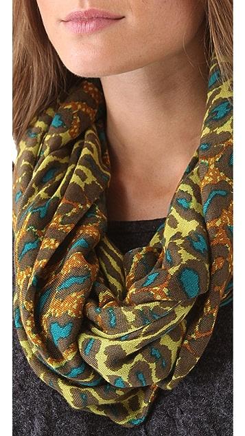 Theodora & Callum Ombre Leopard Infinity Scarf