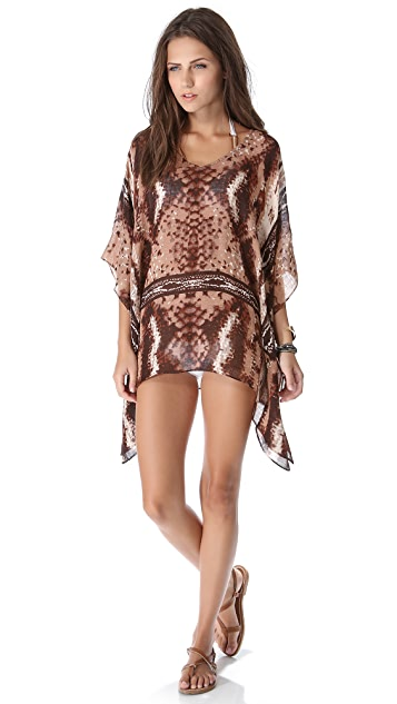 Theodora & Callum Mojave Scarf Cover Up Top