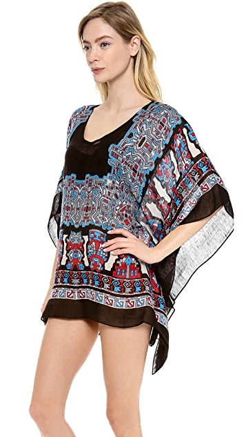 Theodora & Callum Inca Scarf Cover Up Top