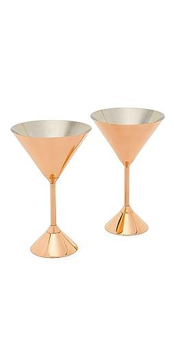 Tom Dixon - Plum Martini Glasses Set
