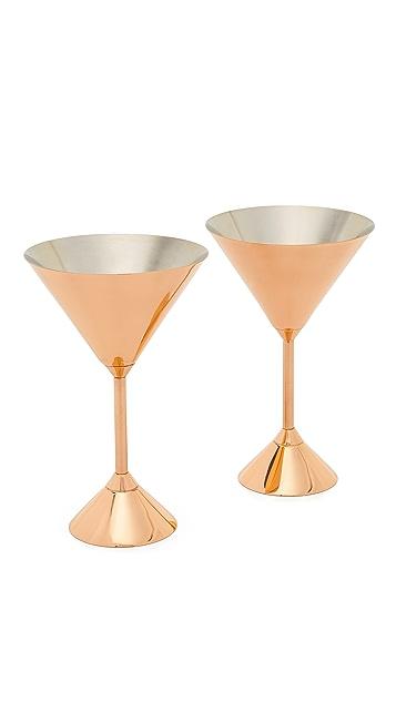 Tom Dixon Plum Martini Glasses Set