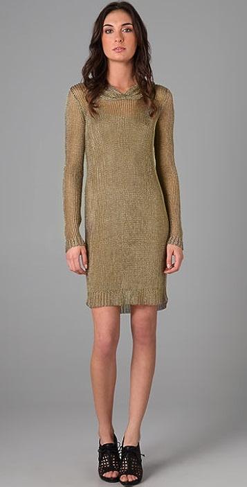 Temperley London Metallic Hoodie Dress