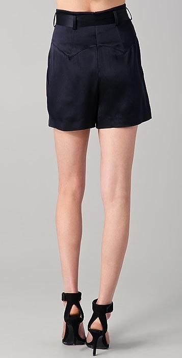 Temperley London Greta Satin Shorts