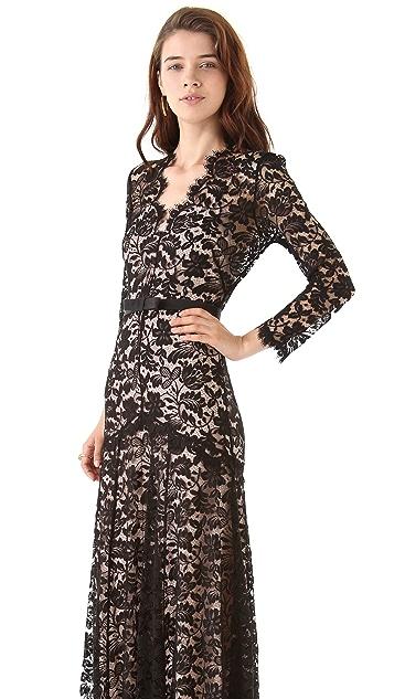 Temperley London Amoret Lace Maxi Dress