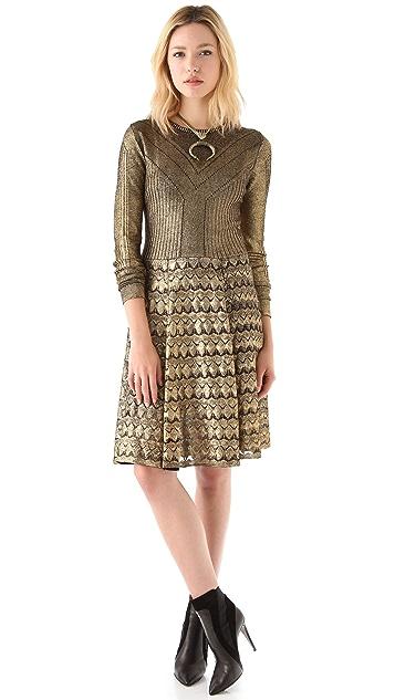 Temperley London Foil Sweater Dress