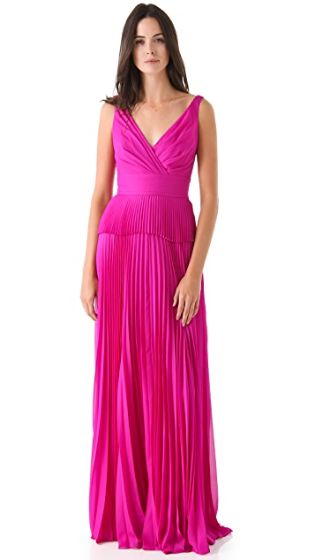 Temperley London Serena Pleated Gown