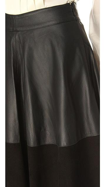 Temperley London Olivia Leather Skirt