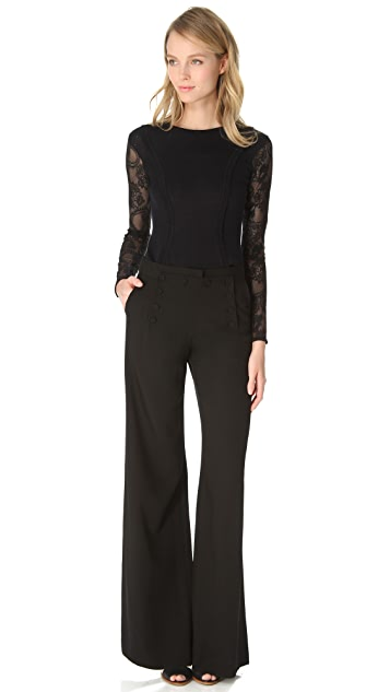 Temperley London Stretch Lace Knit Top