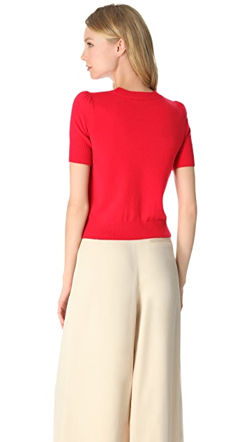 Temperley London Cropped Cashmere Sweater