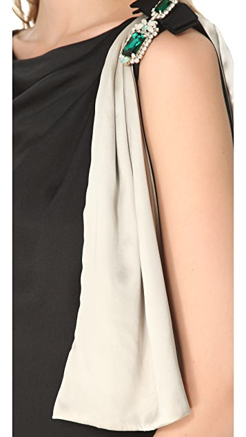 Temperley London Bijoux Drape Dress