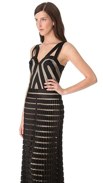 Temperley London Long Ribbon & Tulle Dress