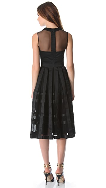 Temperley London Freya Ribbon Satin Dress