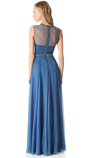 Temperley London Long Laurel Sleeveless Dress