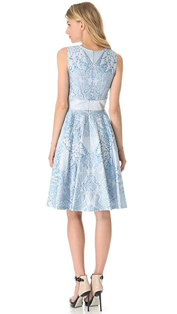 Temperley London Tile Crew Neck Dress
