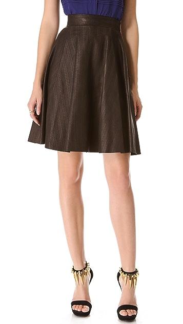 Temperley London Adele Leather Skirt