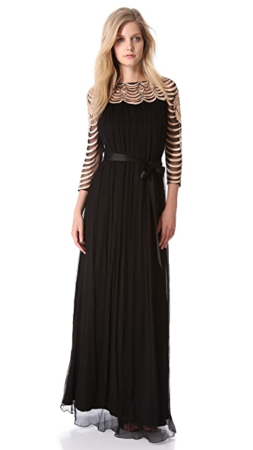 Temperley London Wave Chiffon Gown