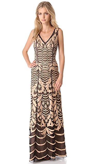 Temperley London Wave Embroidery Gown