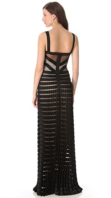 Temperley London Long Ribbon & Tulle Dress