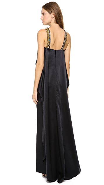 Temperley London Long Goldina Necklace Dress