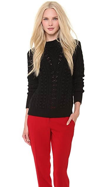 Temperley London Falcon Cable Knit Top