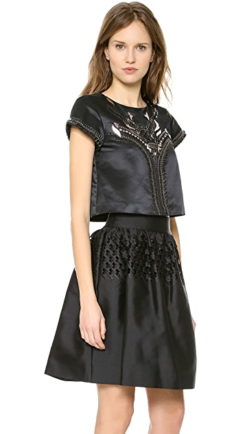 Temperley London Ammi Show Cropped Top