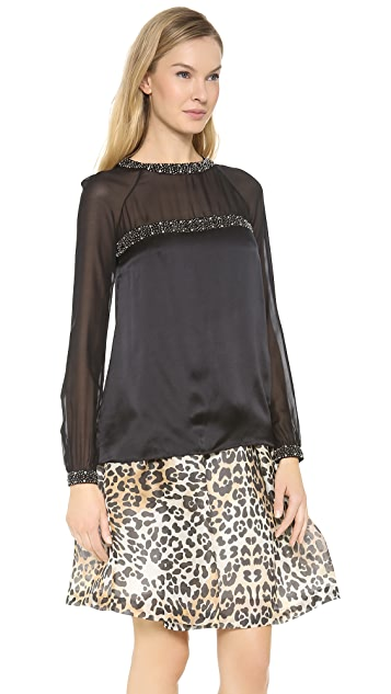 Temperley London Aralia Long Sleeve Top