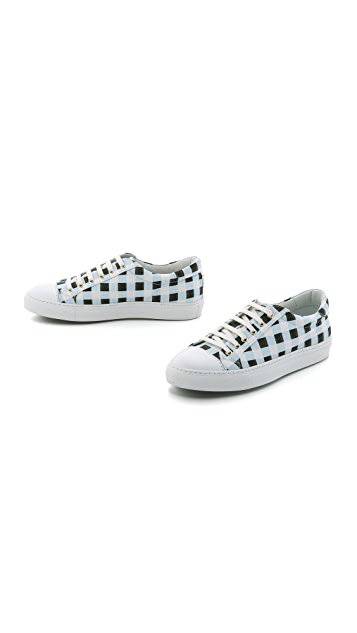 Temperley London Check Canvas Sneakers