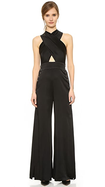Temperley London Madena Cross Front Jumpsuit