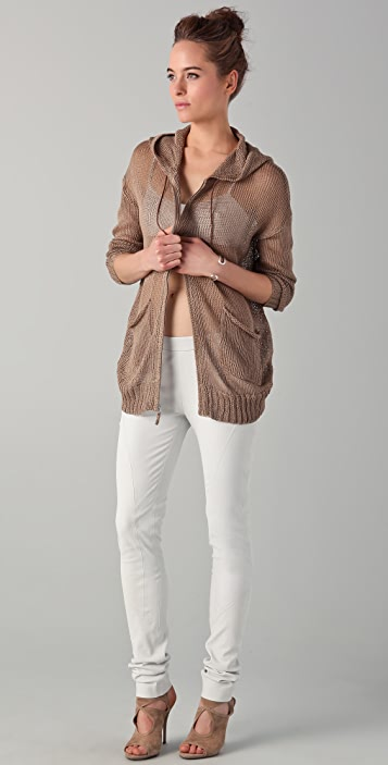 Tess Giberson Leather Bandeau Bra