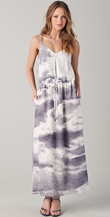 Tess Giberson Cloud Print Maxi Dress
