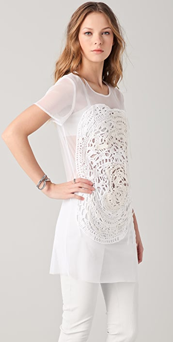 Tess Giberson Tulle Crocheted Tee Dress