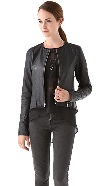 Tess Giberson Pieced Leather Jacket