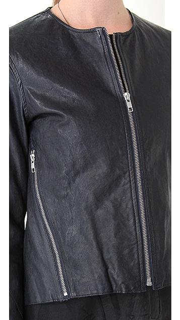 Tess Giberson Pieced Leather Jacket