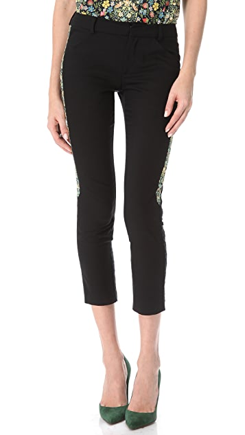 Tess Giberson Cropped Pants with Trim