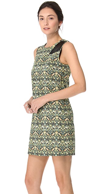 Tess Giberson Floral Dress with Leather