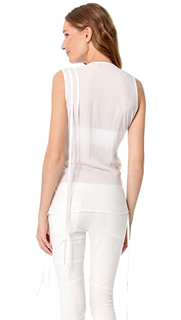 Tess Giberson Sleeveless Shirt with Ties