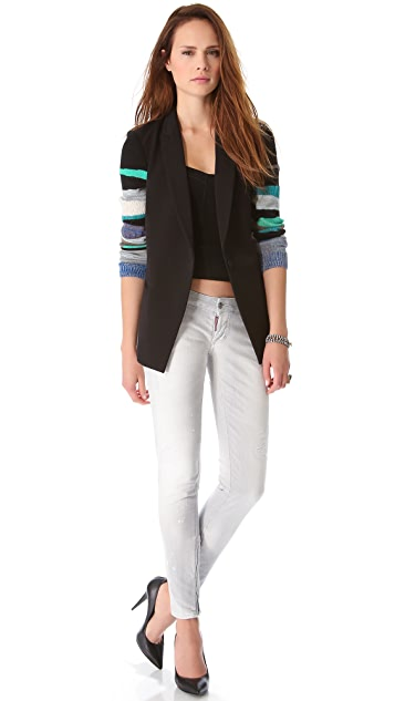 Tess Giberson Blazer with Knit Sleeve