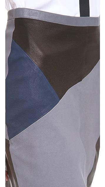 Tess Giberson Split Leather Skirt