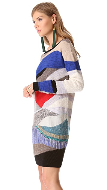 Tess Giberson Intarsia Collage Sweater Dress